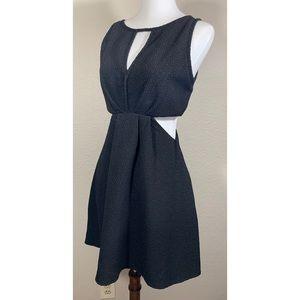 BCGGeneration Black Textured Mini Dress w Cutouts